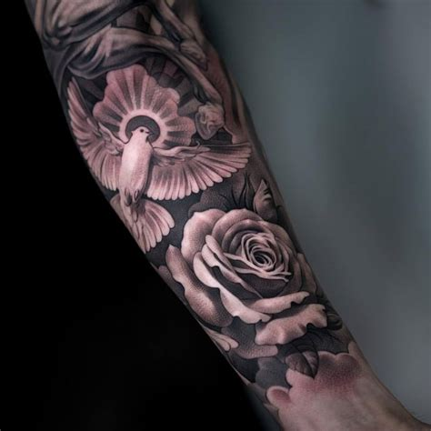 roses and doves tattoo 71 beautiful dove tattoos with meanings