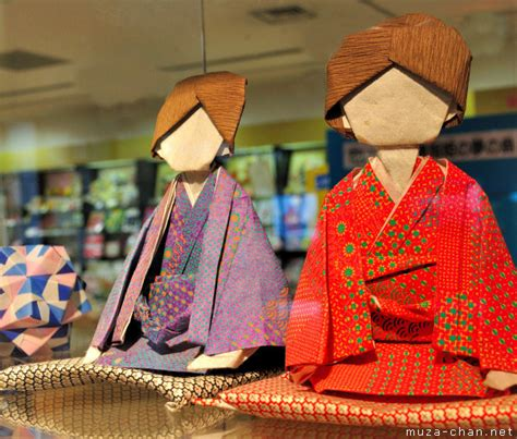 Japanese Origami History - origami diorama masterpieces a great place to see and a