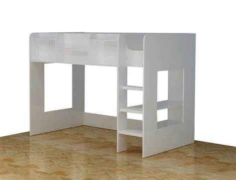 white high sleeper with futon flair furnishings wizard junior white high sleeper bed by