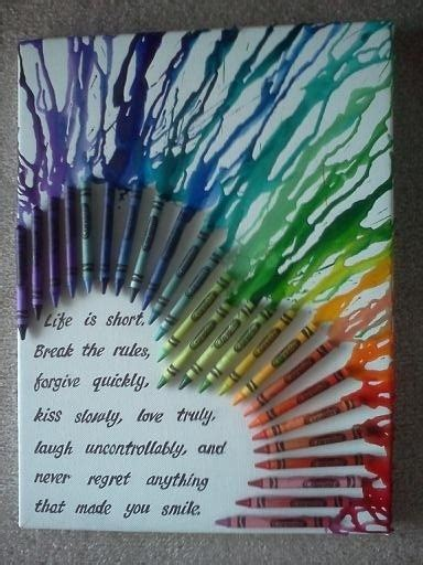 crayon crafts for how to diy melted crayon canvas