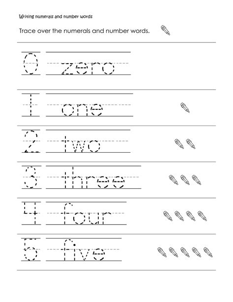 printable trace and write numbers preschool writing numbers 1 to 5 simple loving printable