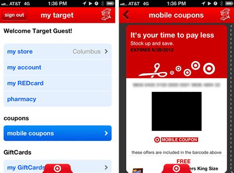 target mobili target coupons mobile
