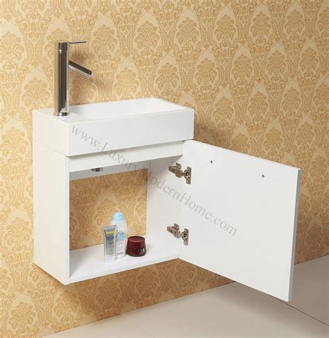 Narrow Wall Hung Vanity by Vanity Sink 20 Quot Small Narrow White Modern Bathroom
