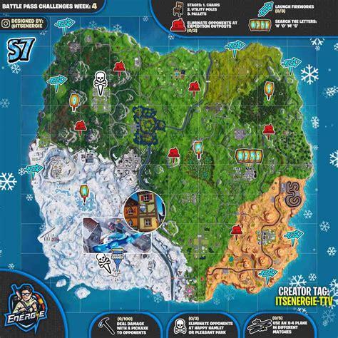 fortnite week 4 challenges fortnite sheet map season 7 week 4 challenges