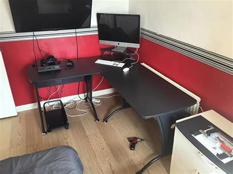 Flat Pack Corner Desk Corner Desk Assembly Worthing Flat Pack Dan