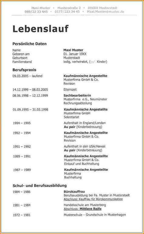Lebenslauf In Tabellarischer Form Lebenslauf Aktuelle Form Reimbursement Format