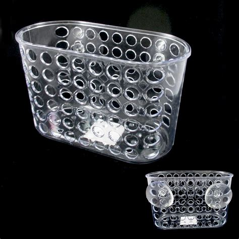 Bathroom Shower Baskets Bath Caddy Shower Bathroom Organizer Suction Cups Storage Basket Soap Holder Ebay