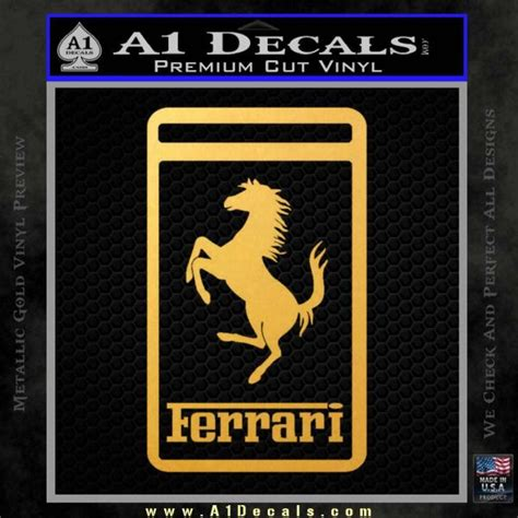Ferrari Emblem Sticker Aufkleber Bezugsquelle by Ferrari Emblem Logo D3 Decal Sticker 187 A1 Decals