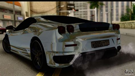 chrome f430 f430 chrome pour gta san andreas