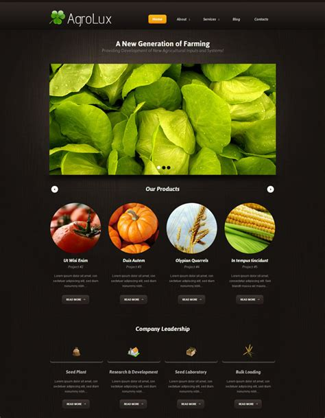 agriculture themes html 15 premium agriculture wordpress themes