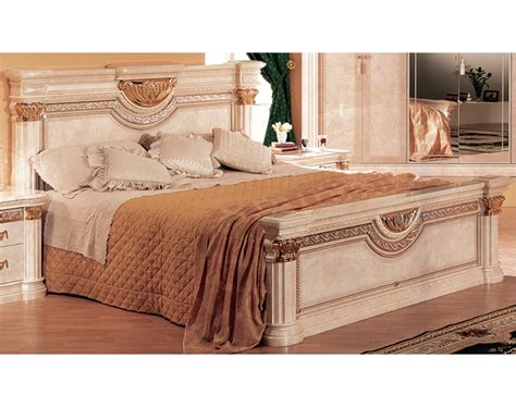 bedroom set beige marble