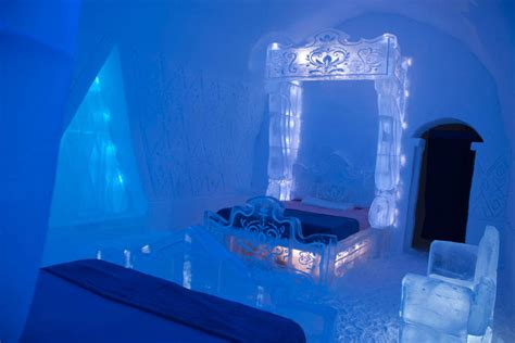 ice bedroom suite photos an ice hotel created a bedroom just like the one