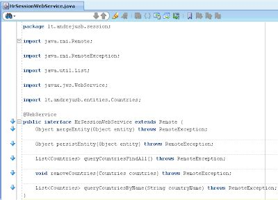 using the jdeveloper ejb tools andrejus baranovskis blog web services in oracle