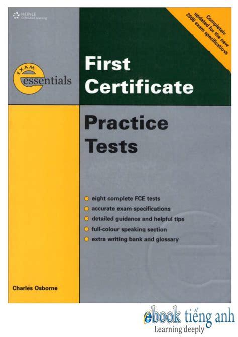 test fce essentials book essentials fce