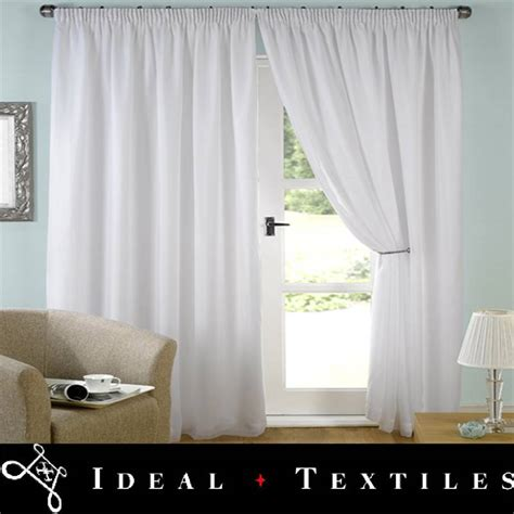 white lined drapes white lined curtains voile tape top evie all sizes