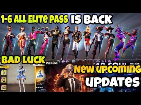 garena  fire  upcoming update  season   elite