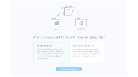 dropbox business support een bestaand dropbox basic of plus account overzetten