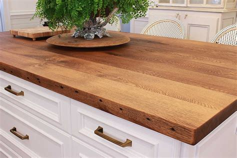kitchen island wood countertop reclaimed wood countertops j aaron