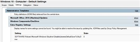 onedrive for business gpo templates remove orphaned admx gpo values jocha