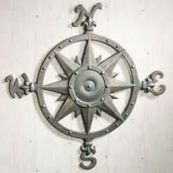 Outdoor Metal Wall Decor indoor outdoor nautical compass metal wall