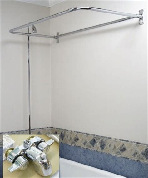 shower curtain rod for clawfoot bathtub clawfoot tub add on shower rx2300a includes 54 quot d shower