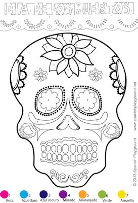 halloween coloring pages in spanish colors archives spanish playground