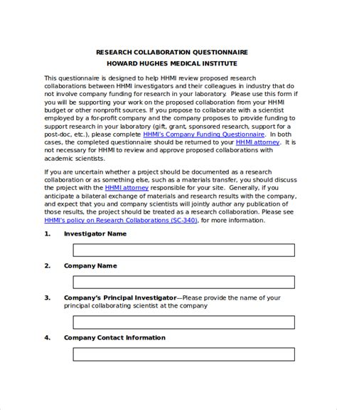 Questionnaire Template Word 11 Free Word Document Downloads Free Premium Templates Free Questionnaire Template