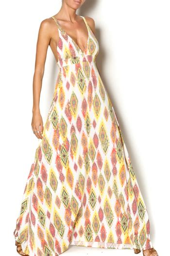 colored maxi dresses pilyq multi colored maxi dress from new york by just b