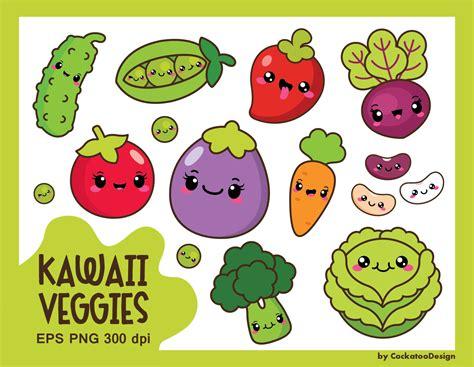 kawaii clipart 30 kawaii vegetables clipart kawaii veggies clipart