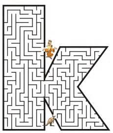 free printable maze kids lowercase letter