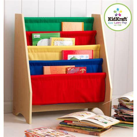 kidkraft primary colours sling bookshelf blossom