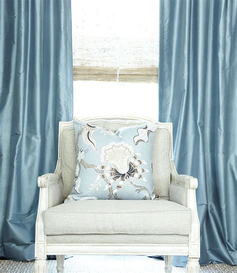 french blue curtains custom silk drapes french blue