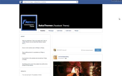 Facebook Themes Tumblr | facebook theme on tumblr