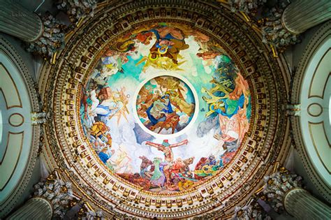 Cathedral Ceiling Painting by Cathedral Ceiling Painting Vaast Arras By