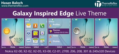 cute themes for nokia x2 02 galaxy inspired edge live theme for nokia x2 00 x2 02 x2