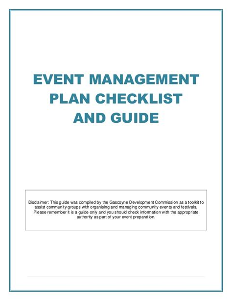 Event Management Layout | event management plan checklist and guide