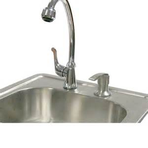 calflame outdoor stainless steel sink with faucet and soap