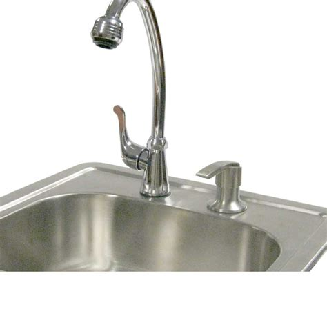 Outdoor Kitchen Sinks And Faucet Calflame Outdoor Stainless Steel Sink With Faucet And Soap Dispenser Wayfair