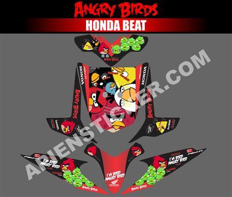 Decal Motor Honda Beat Esp X Beat Dubai striping motor beat angry birds apien sticker