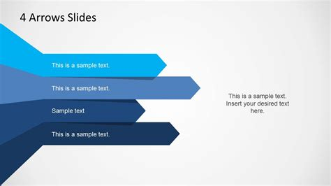 4 Arrows Template For Powerpoint Slidemodel Arrows Powerpoint Templates
