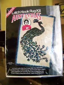 Aunt Lydia Rug Yarn Peacock Latch Hook Rug Or Wall Hanging Kit By By