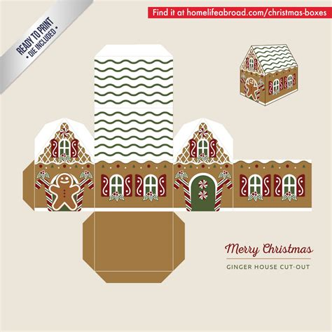 printable gingerbread house cutouts mega collection of 38 cut out christmas box templates part 3