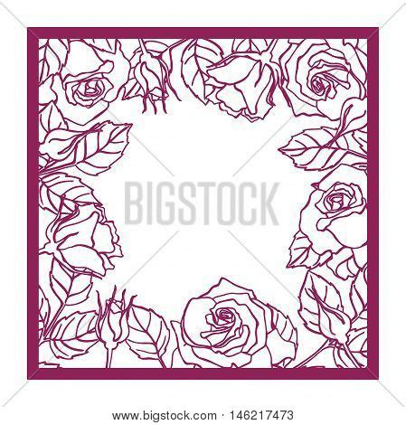 Cutting Dies Square Flower Pattern Laser Cut Vector Square Frame Vector Photo Bigstock