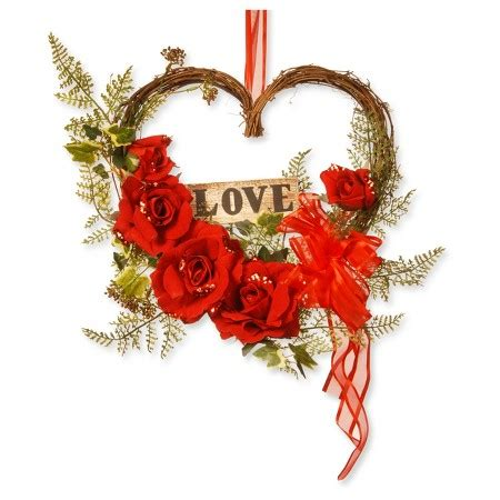 target wreaths home decor 12 quot rose valentine heart decor national tree company target