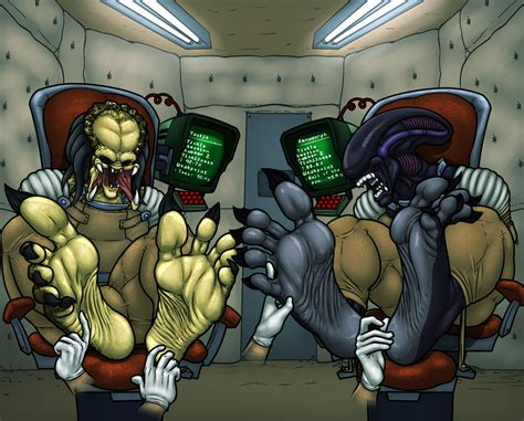 vs predator rule 34 yautja and xenomorph tickling experiment by
