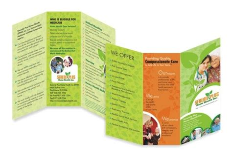 6 panel brochure template tri fold 6 panel gt gt oldage home brochure brochure design