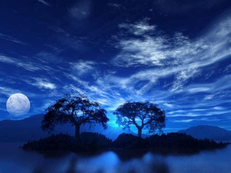 wallpaper blue night sun shines blue sky wallpaper