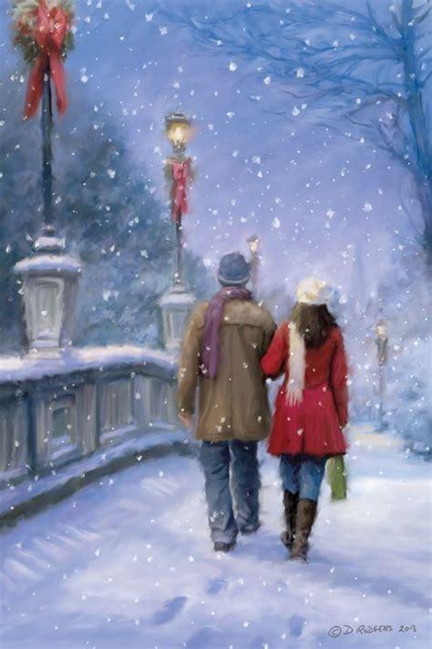 daniel rodgers happy merry christmas christmas scenes christmas paintings