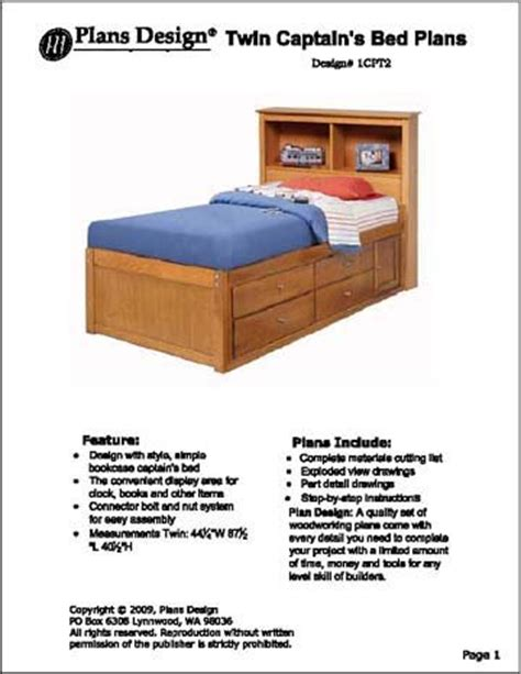 captains bed plans woodworking plans captains bed free