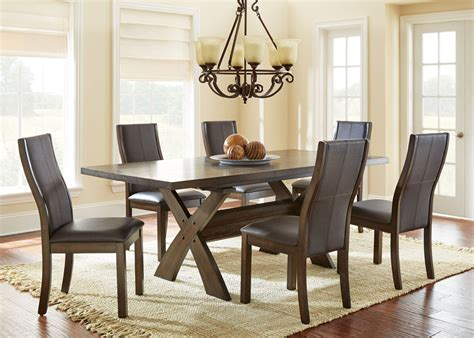 Chocolate Brown Dining Room by Bernini Chocolate Brown Extendable Rectangular Dining Room
